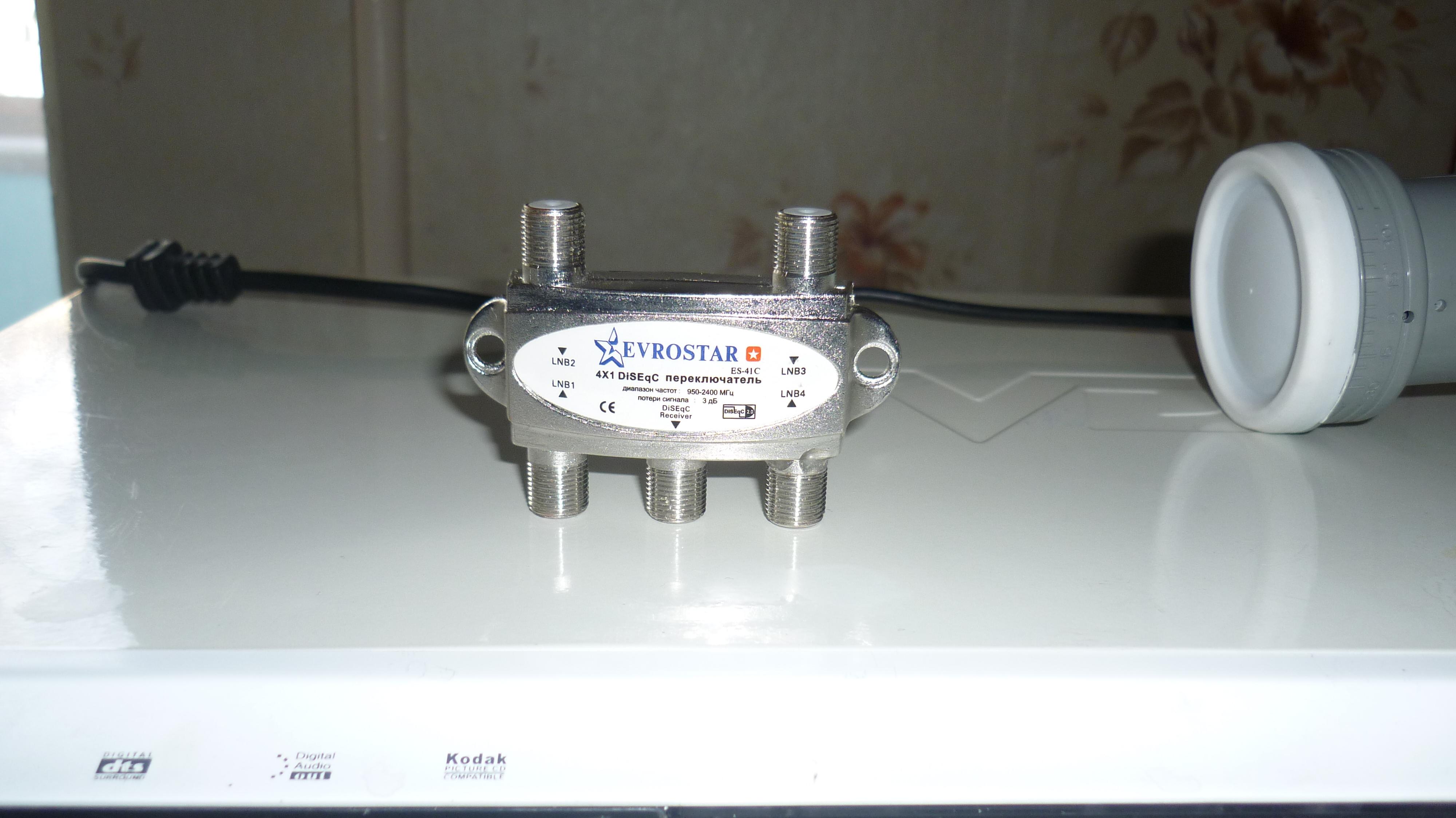схема подключения антенн к мультисвитчу 9х12
